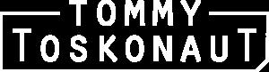 Tommy Toskonaut Logo quer weiß